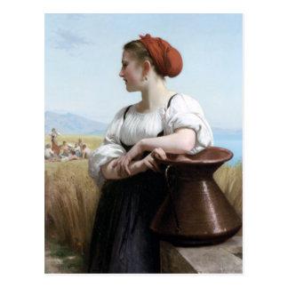 Bouguereau - Moissonneuse Tarjetas Postales