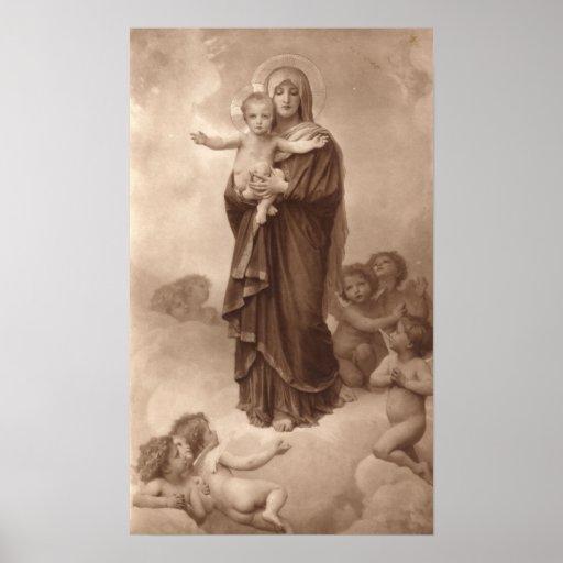 Bouguereau - Notre-Dame des Anges Print