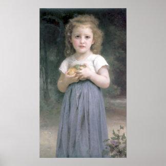 Bouguereau - Petite Fille Tenant des Pommes Poster