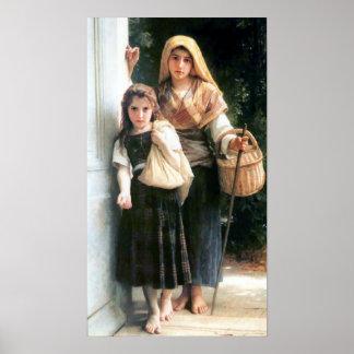 Bouguereau - Petites Mendiantes Poster