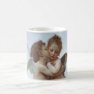 Bouguereau - pintura hermosa del ángel taza clásica