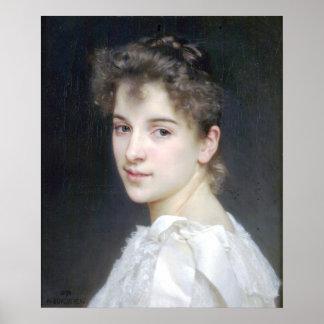 Bouguereau - Portrait de Gabrielle Cot Poster