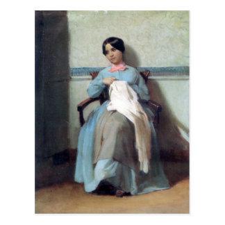 Bouguereau - Portrait de Léonie Bouguereau Tarjetas Postales