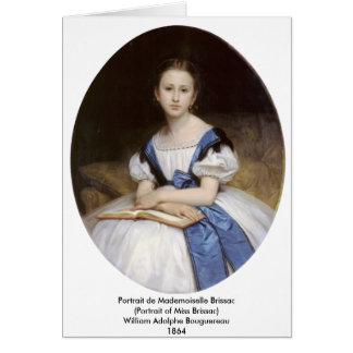 Bouguereau - Portrait de Mademoiselle Brissac Card