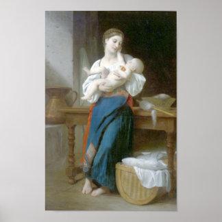 Bouguereau - Premieres Caresses Poster