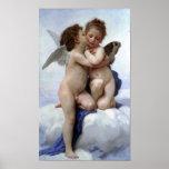 Bouguereau-Primer beso de Guillermo-Adolfo Impresiones