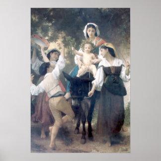 Bouguereau - Promenade a Ane Posters