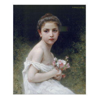 Bouguereau - ramo menudo del au de Fille Impresiones