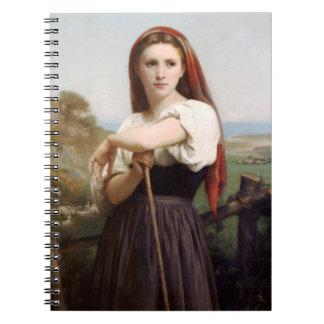 Bouguereau Shepherdess Note Books
