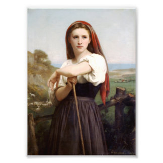 Bouguereau Shepherdess Photo Print