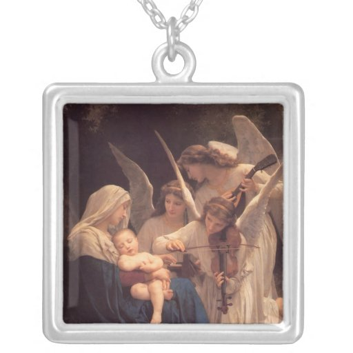 Bouguereau Song of the Angels Art Necklace