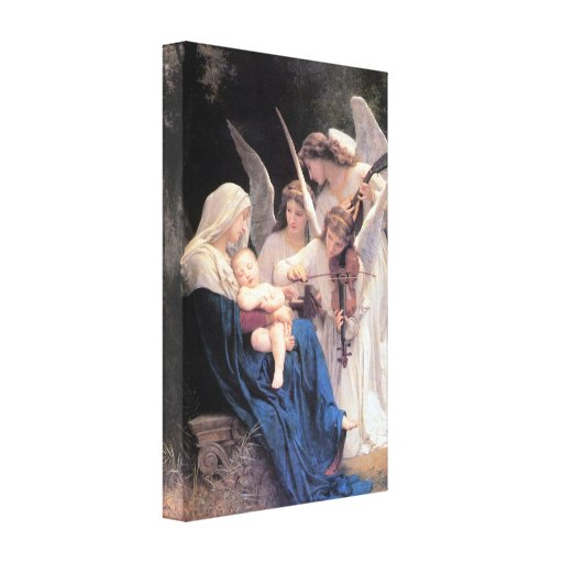 Bouguereau - Song of the Angels lg Gallery Wrapped Canvas