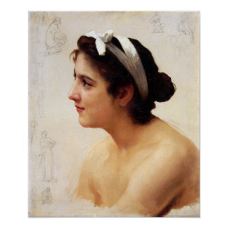 Bouguereau-Study Of A Woman For Offering To Love Print