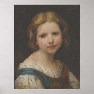 Bouguereau - Tête d Enfant Étude Poster