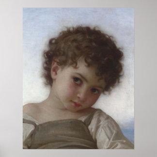 Bouguereau - Tête d'Enfant Póster