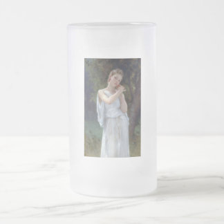 Bouguereau The Earrings Young woman Frosted Glass Beer Mug