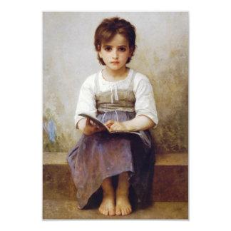 Bouguereau The Hard Lesson Invitations