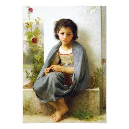 Bouguereau The Little Knitter Invitations