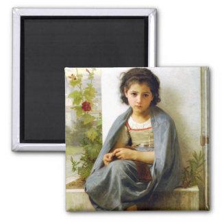 Bouguereau The Little Knitter Magnet