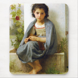Bouguereau The Little Knitter Mouse Pad