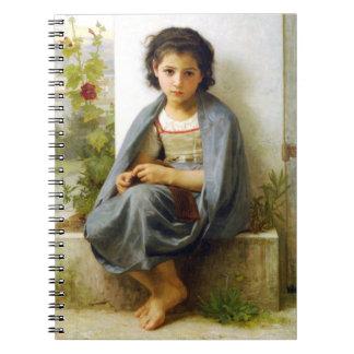 Bouguereau The Little Knitter Notebook