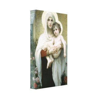 Bouguereau - The Madonna of the Roses Canvas Print
