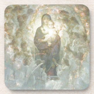 Bouguereau The Virgin With Angels Drink Coaster