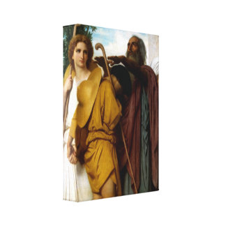 Bouguereau - Tobias Saying Good-Bye to his Father Stretched Canvas Prints