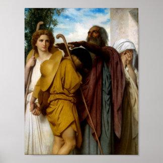 Bouguereau-Tobias Saying Good-Bye to his Father Poster