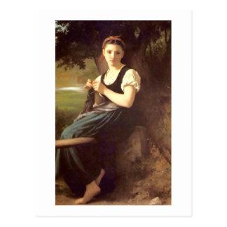 Bouguereau - Tricoteuse Postcard