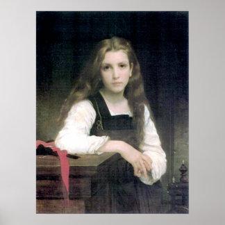 Bouguereau - Tricoteuse Poster