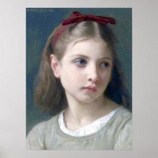 Bouguereau - Une Petitie Fille Póster