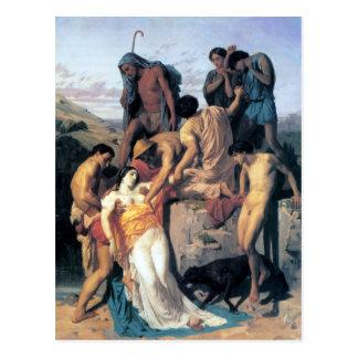 Bouguereau - Zénobia Retrouvée par les Bergers Postcard