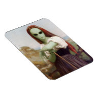 Bouguereau's Alien Shepherdess Magnet