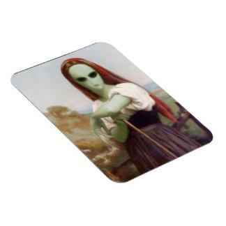 Bouguereau's Alien Shepherdess Rectangular Magnets