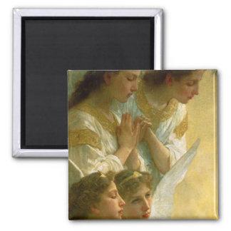 Bouguereau's Angels 2 Inch Square Magnet
