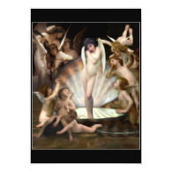 Bouguereau's Angels Surround Cupid 5x7 Paper Invitation Card