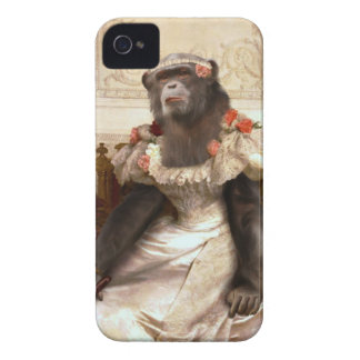 Bouguereau's Chimp in Gown iPhone 4 Case-Mate Cases