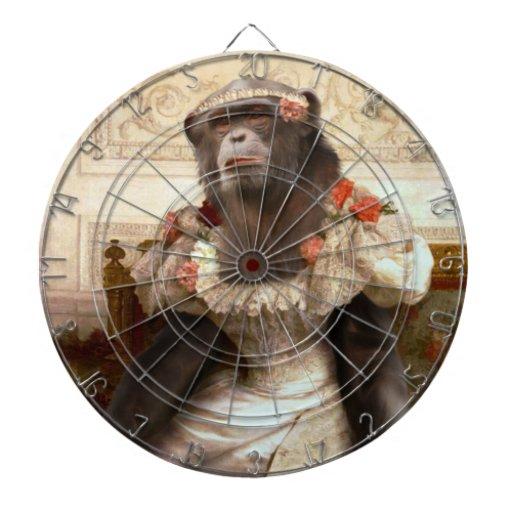 Bouguereau's Chimp in Gown Dartboard
