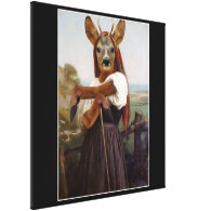 Bouguereau's Dearest Deer Shepherdess Canvas Print