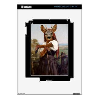 Bouguereau's Dearest Deer Shepherdess Skin For iPad 3