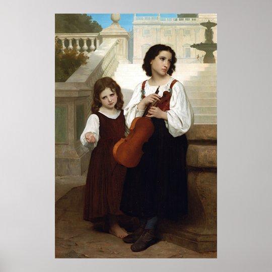 Bouguereau's Far from Home (Loin du Pays) 1867 Poster