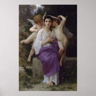 Bouguereau's Painting The Heart's Awakening (1892) Poster
