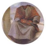 Bouguereau's The Invisible  Bohemian Dinner Plate