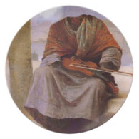 Bouguereau's The Invisible  Bohemian Party Plates