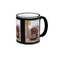 Bouguereau's The Invisible  Bohemian Ringer Coffee Mug
