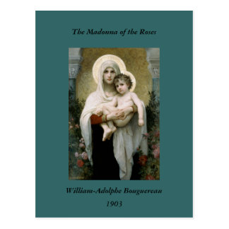 Bouguereau's The Madonna of the Roses (1903) Post Card