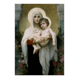 Bouguereau's The Madonna of the Roses (1903) Poster