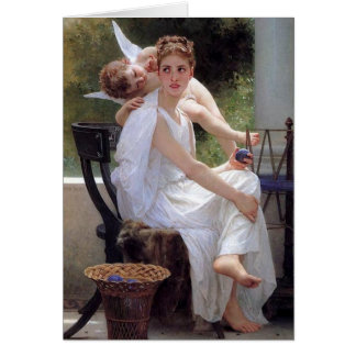 Bouguereau's 'Work Interrupted' - Card