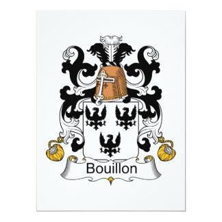 Bouillon Family Crest Invites